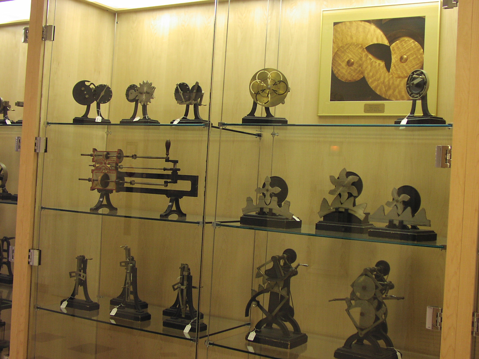 image of Reuleaux collection 1st floor Upson Hall (2014)