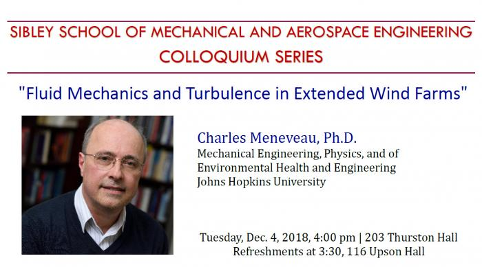MAE Colloquium - Charles Meneveau, Ph D , (Johns Hopkins University